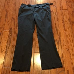 Theory black trouser dress pants size 10